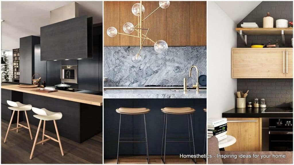outstanding black kitchen design ideas | Highly Versatile Board Compact Kitchen Designed by ...