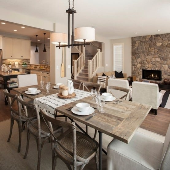 47 Calm And Airy Rustic Dining Room Designs: 20 Splendid Rustic Dining Rooms That Will Inspire You