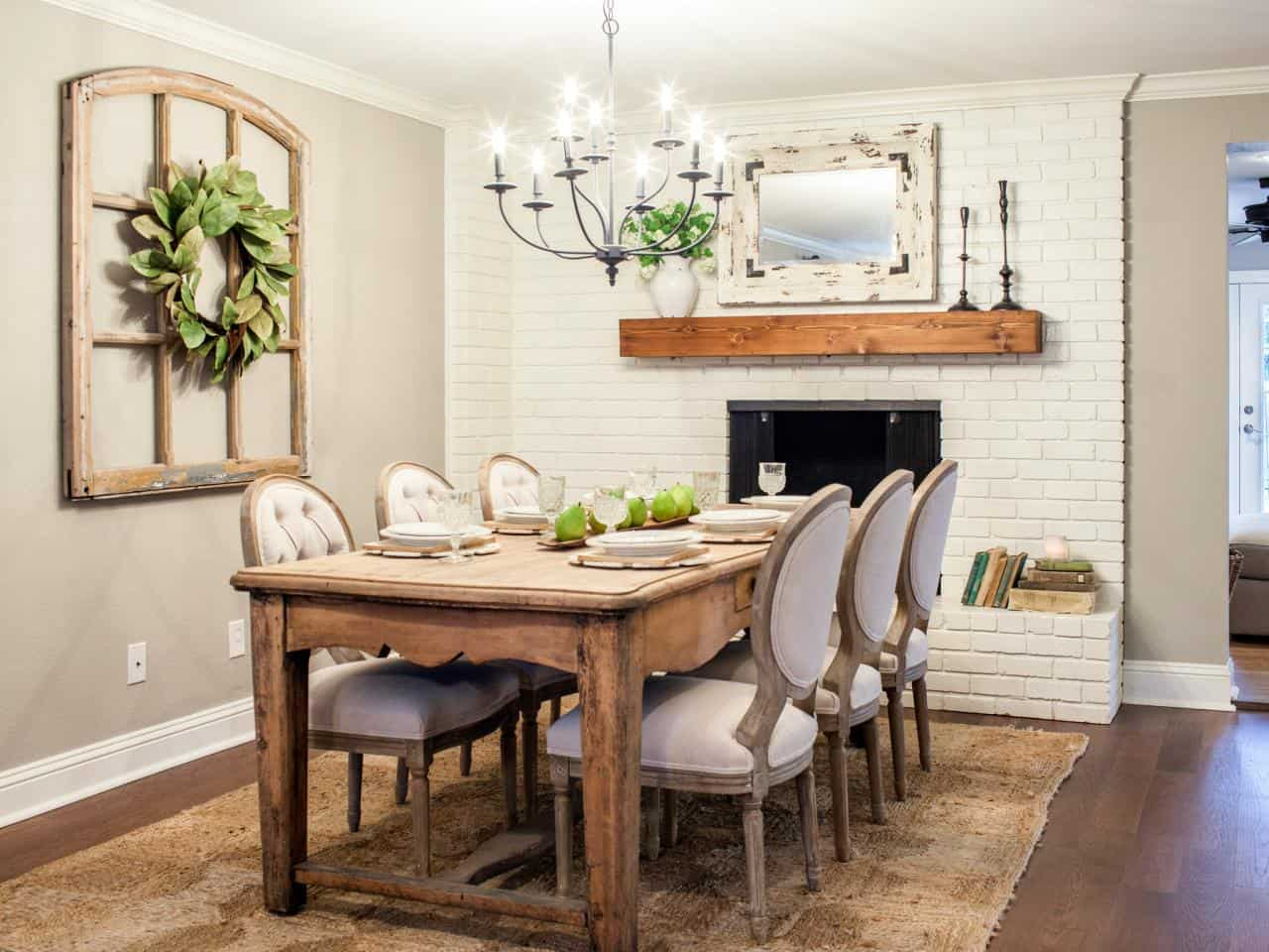 entrancing dining room vintage styling design ideas showcasing awesome fireplace complete marvelous rustic dining table also comfortable neutral dining chair decoration best leather conditioner for ch