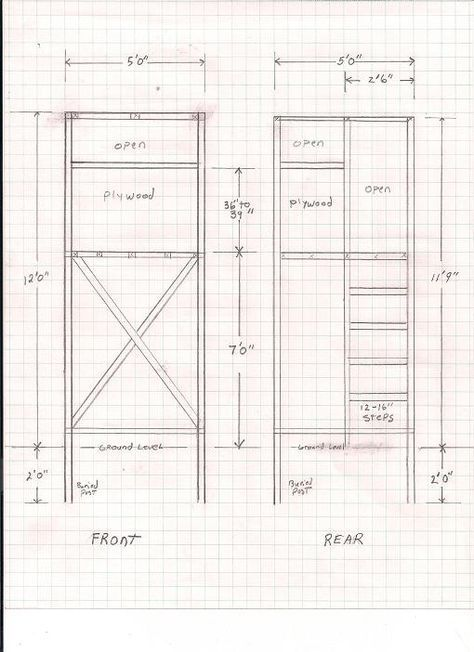 1. HAND-DRAWN DEER HUNTING STAND PLANS