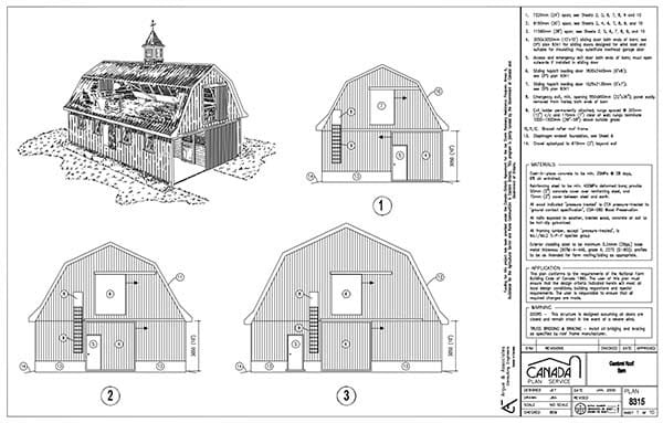 CANADIAN STORAGE BARN PLANS