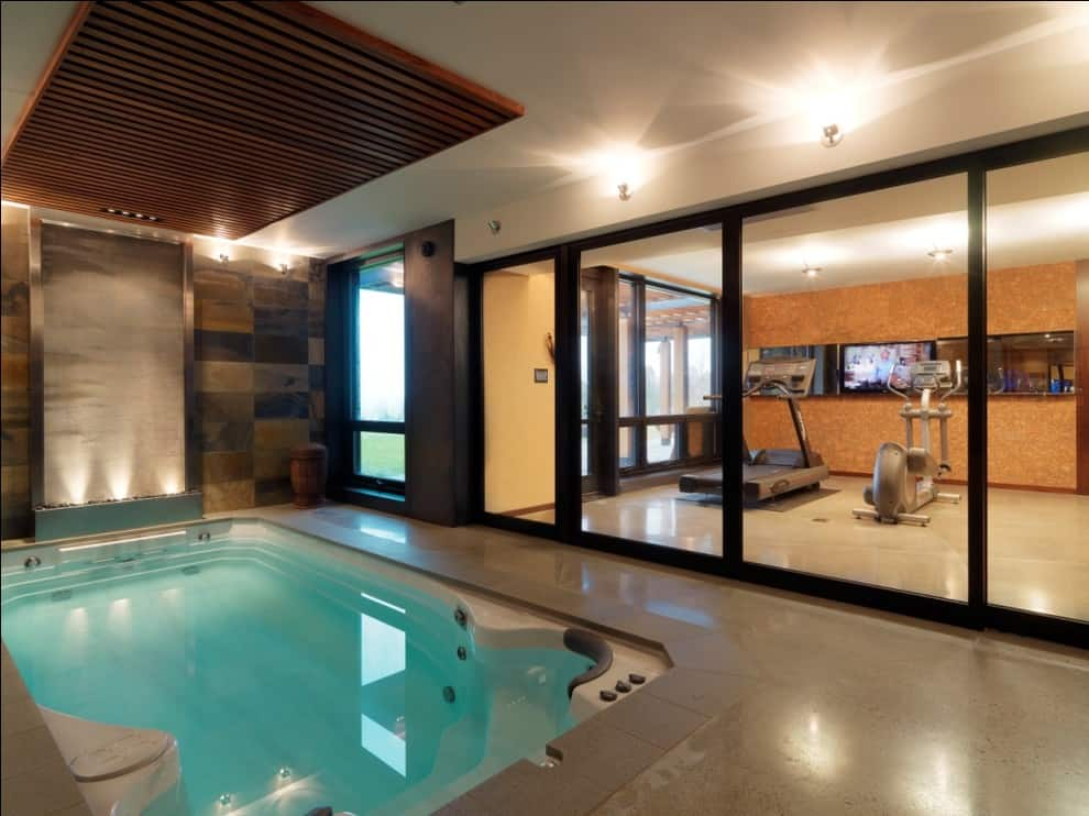 15 mind blowing basement remodeling projects to consider homesthetics inspiring ideas for for White house swimming pool indoor