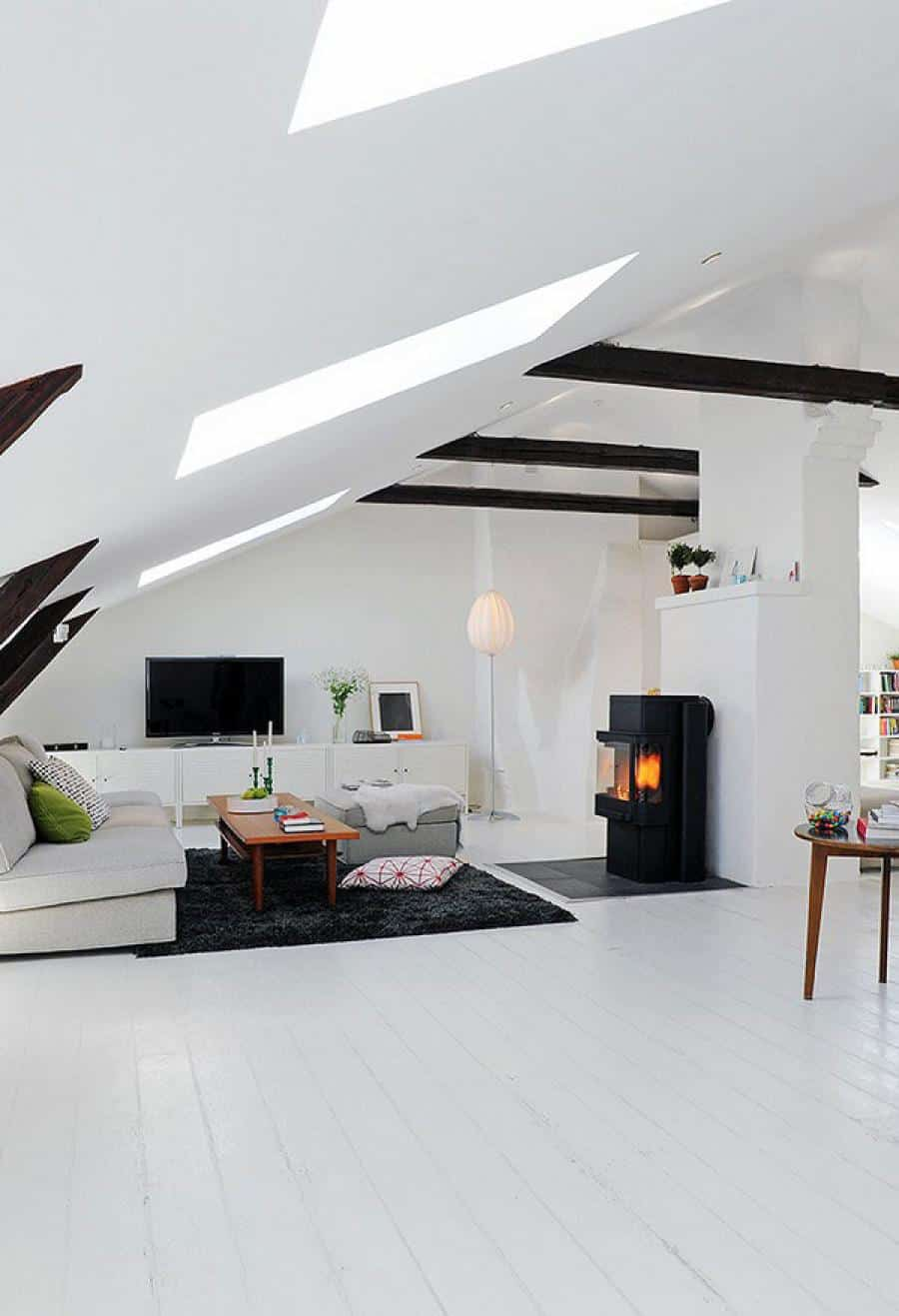 interior large attic bedroom ideas white interior with living room and simple sloping also black white furniture interior design stunning sloping wood roof attic bedroom design