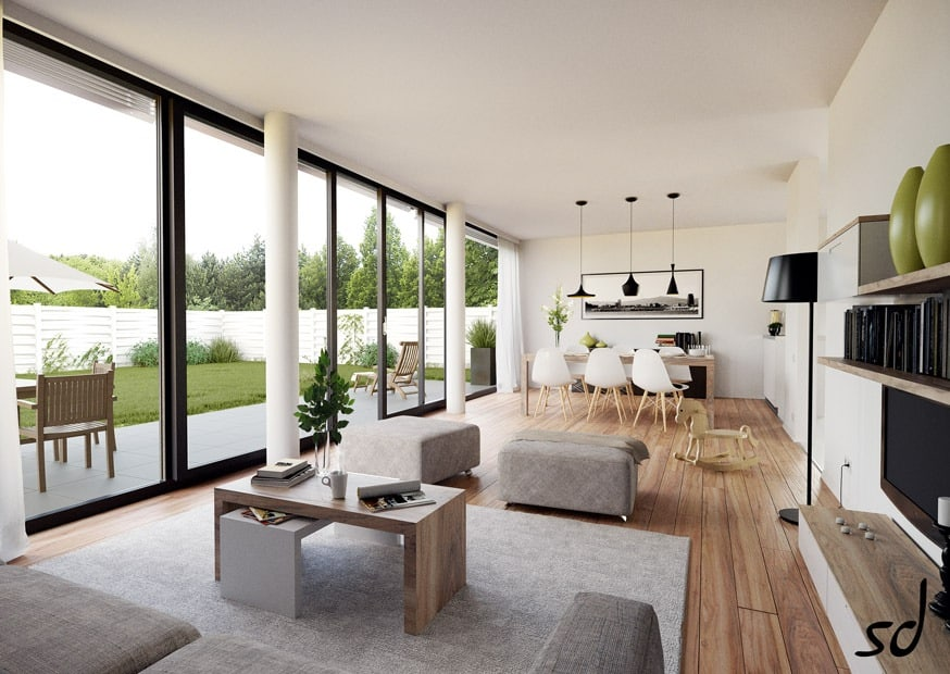 Fascinating Floor-To-Ceiling Windows Interiors - Homesthetics - Inspiring  ideas for your home.