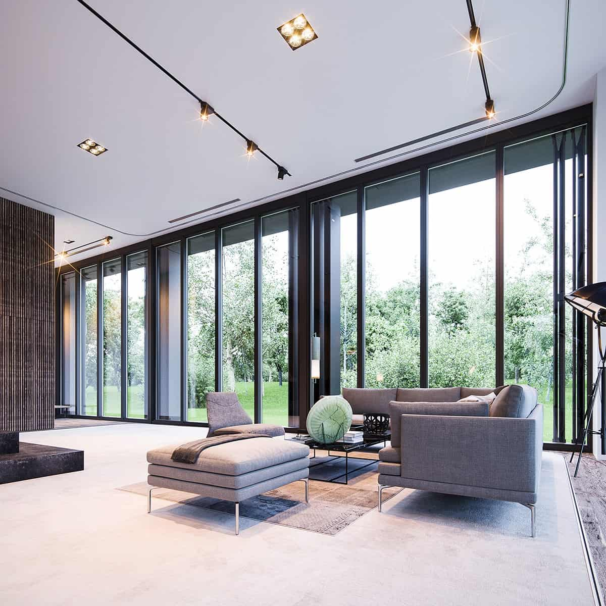 Fascinating floor to ceiling windows interiors - Window design for home ...