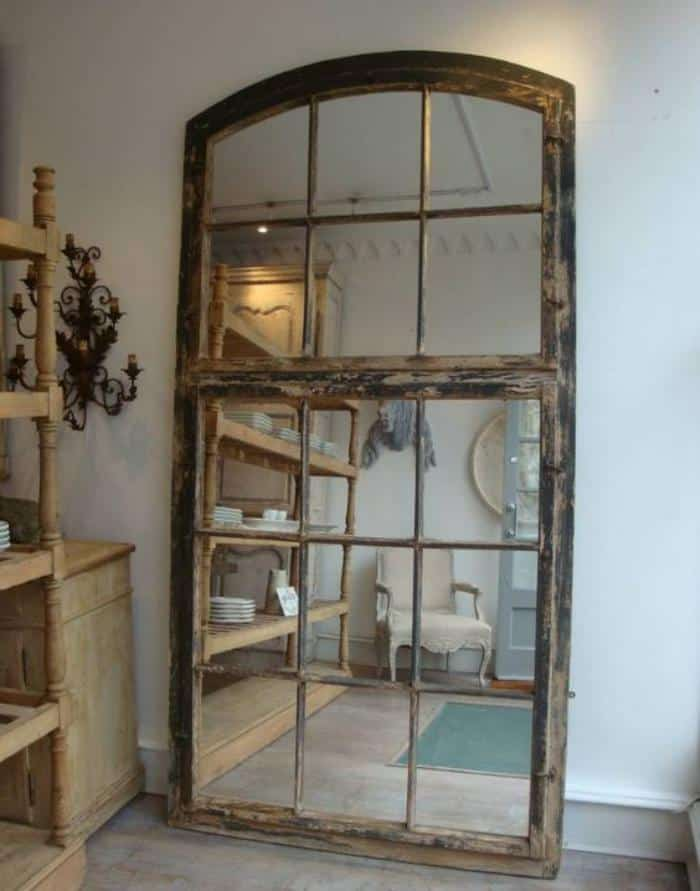 17 useful ways to repurpose old windows homesthetics for Miroir mural grande taille