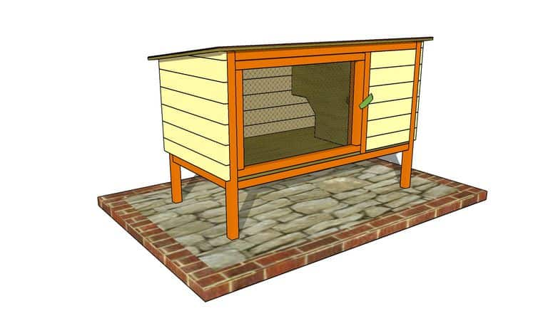 OUTDOOR PLANS PRESENTS FREE RABBIT HUTCH PLAN