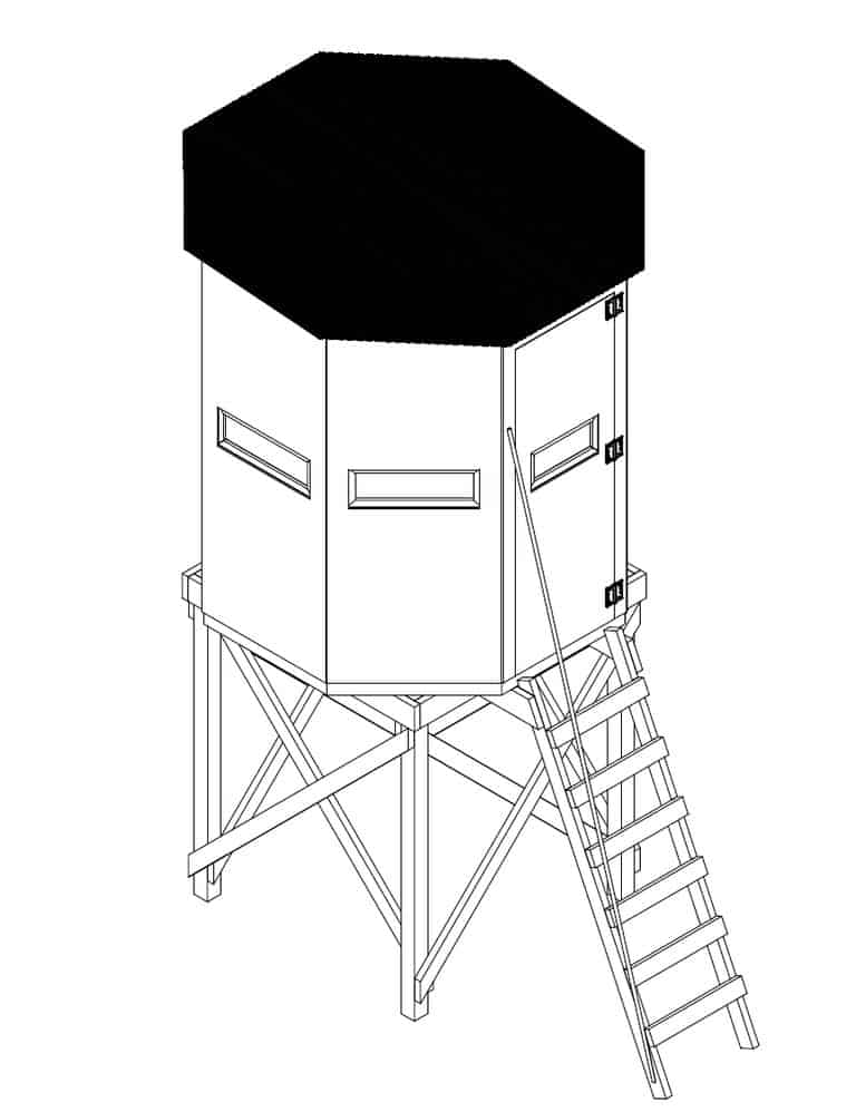 23. OCTAGON DEER BLIND PLAN