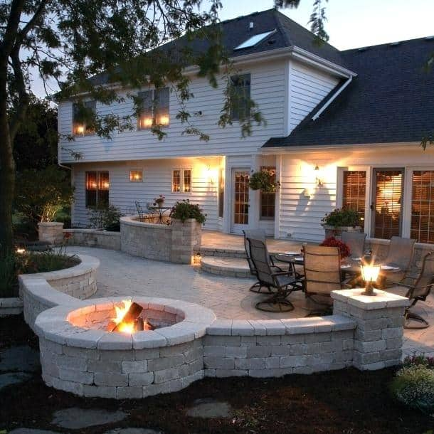 patio wood table 17 best ideas about fire pits on pinterest outside furniture and living offset umbrellas