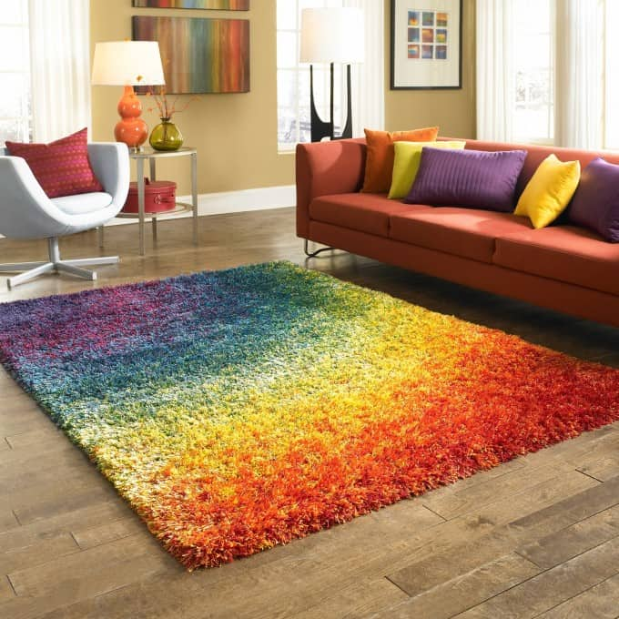 rainbow shaggy rugs for modern living room decor idea cozy and beautiful best shaggy rugs for your interior decor idea shaggy rug shaggy area rugs pink shaggy rug flokati shaggy rugs for
