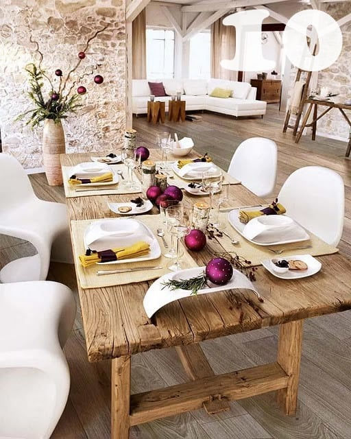 rustic modern dining table1