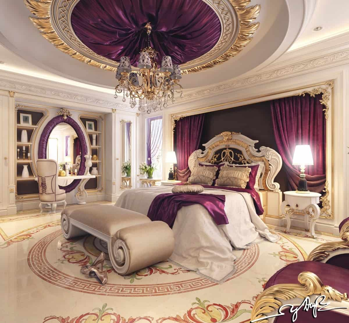 Luxurious bedrooms you will wish to sleep in homesthetics inspiring ideas for your home Royal purple master bedroom