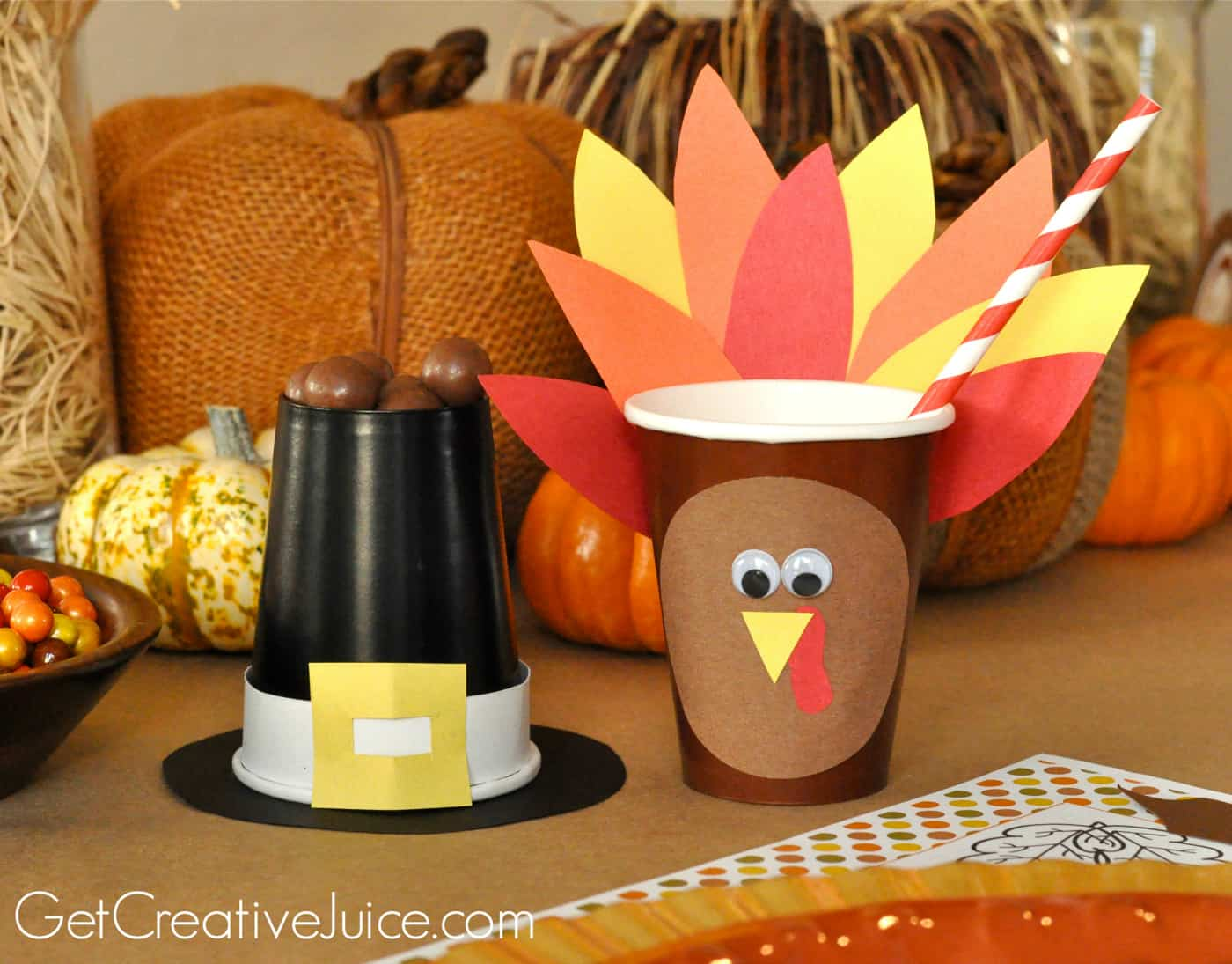 20 Festive Diy Thanksgiving Crafts That You Are Going To: thanksgiving table decorations homemade