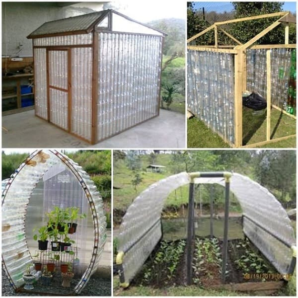DIY GREENHOUSE MADE OF PLASTIC BOTTLES