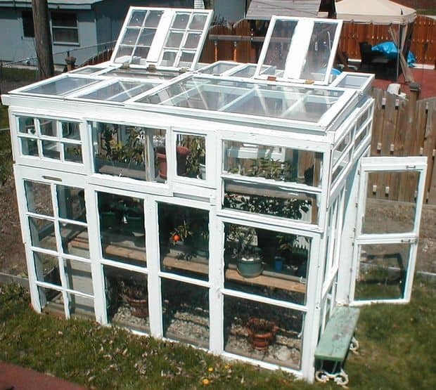 BUILD A DIY GREENHOUSE USING UPCYCLED WINDOWS