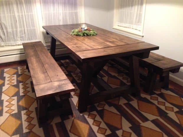 THE SIMPLE FARMHOUSE TABLE WITH BENCHES