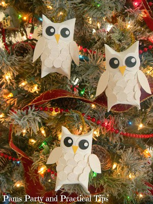 102. Easy DIY Owl Ornament Made With Up-cycled Materials
