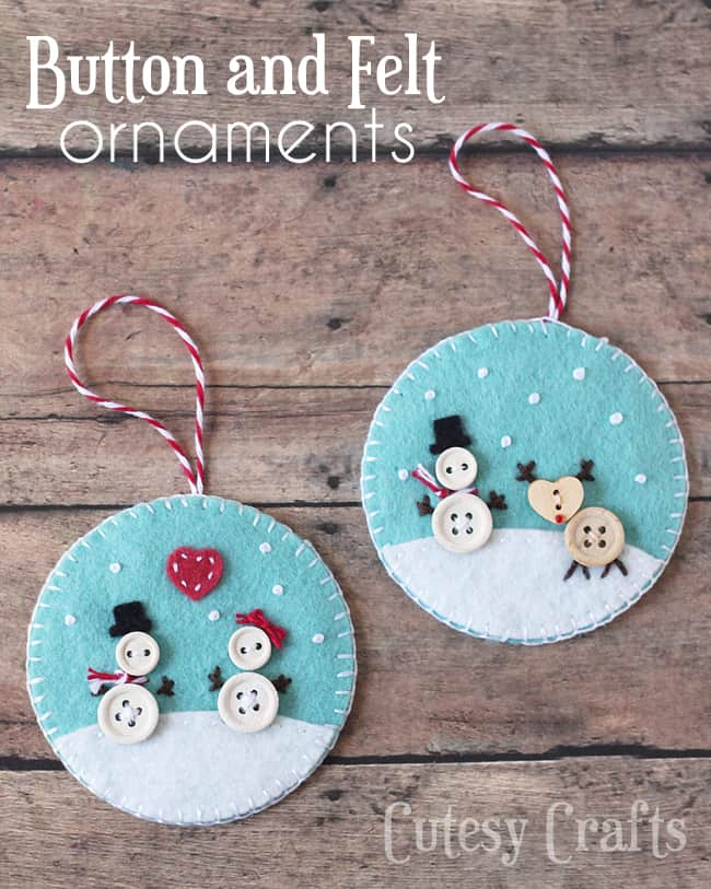 105. Decorate your Christmas tree with these incredibly cute DIY Felt Ornaments