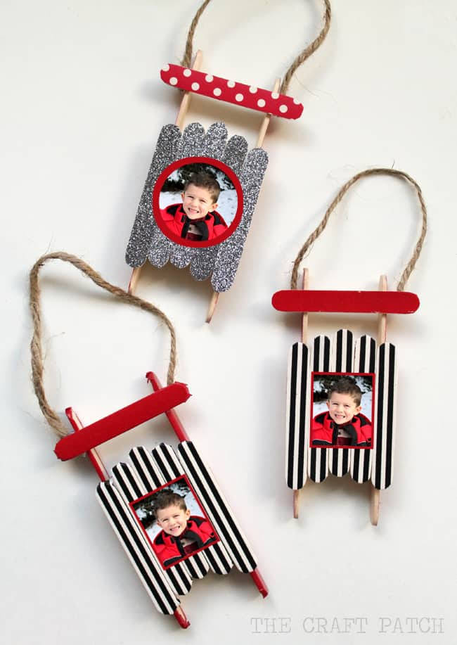 106. The Amazing Popsicle Stick Picture Frame Christmas Ornaments