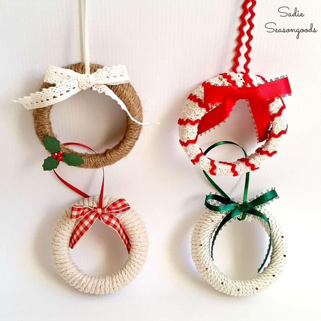 109. Decorate Your Christmas Tree With These Amazing Mason Jar Wreath Ornaments