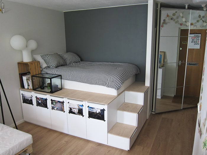 STORAGE AND PLATFORM BED