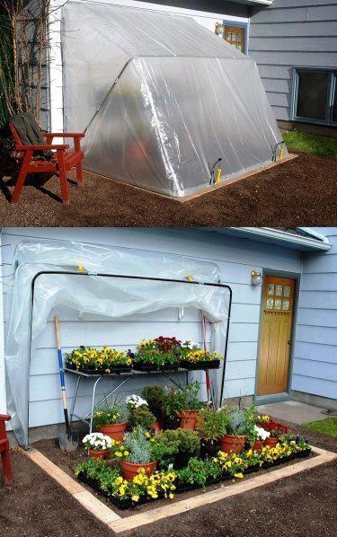 EASY DIY FOLD-DOWN GREENHOUSE