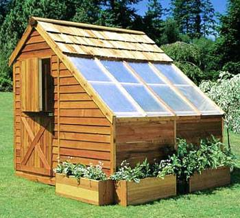 BUILD THIS BEAUTIFUL CEDAR GREENHOUSE FOR YOUR PLANTS