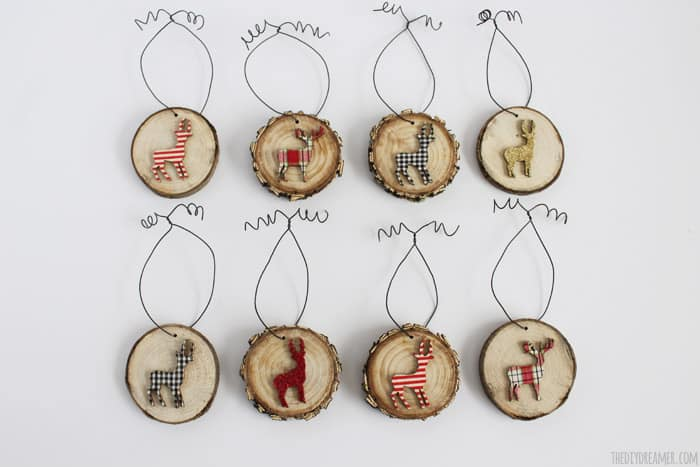 17. Deer Wood Slice Ornaments for a Merry and Rustic Christmas
