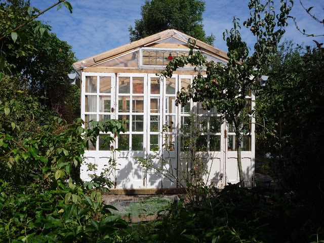 GREENHOUSE MADE USING UP-CYCLED MATERIALS