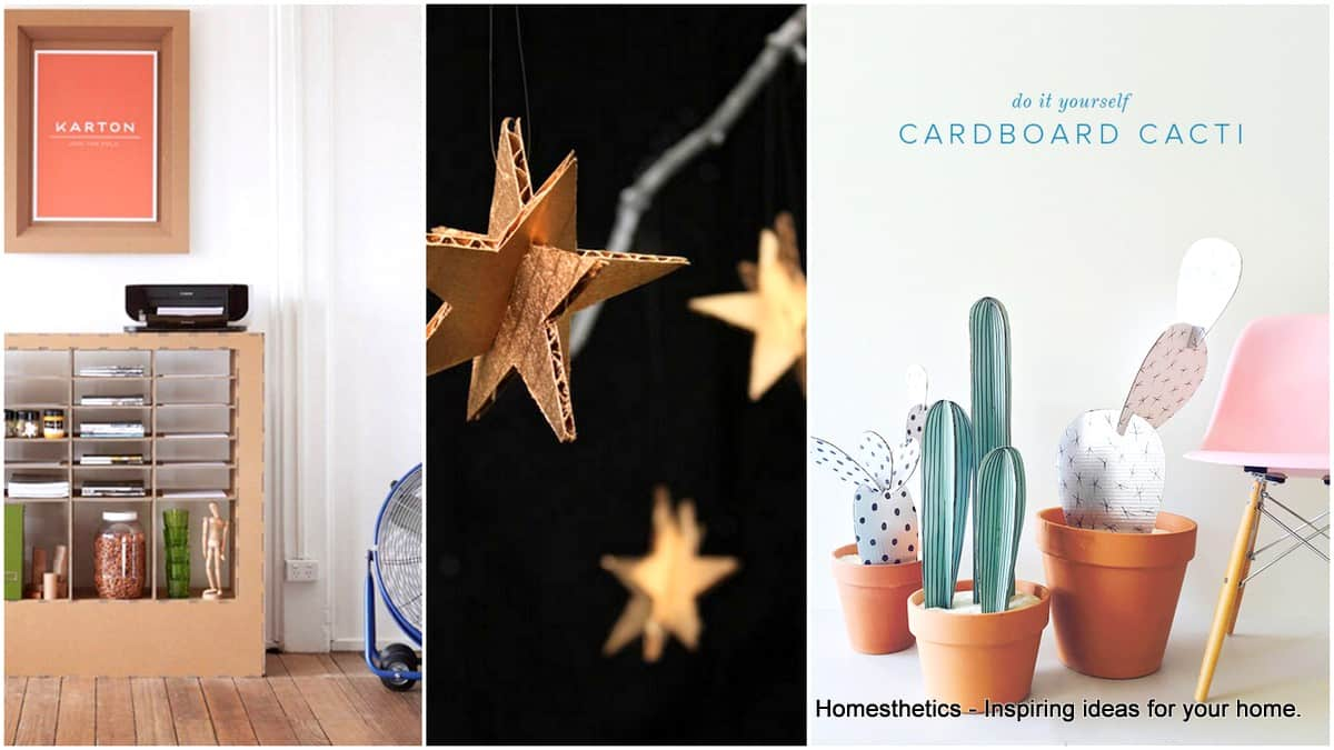 17 Clever DIY Ways To Use Cardboard In Your Home Decor ...