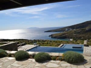 infinity pool in greece on TINOS KP