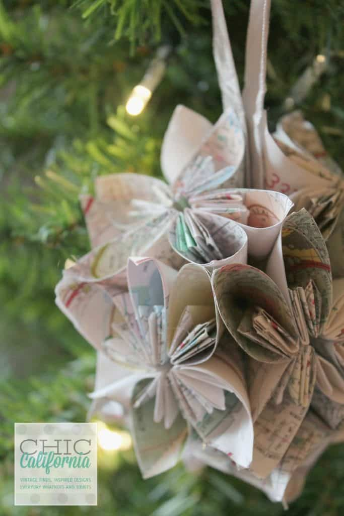 20. Learn How to Make a Beautiful Vintage Map Ornament