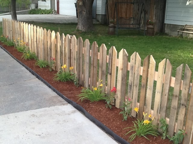 ANOTHER PICKET FENCE WITH PALLETS