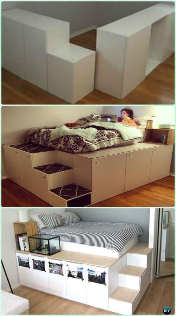 DIY SPACE SAVING BED FRAME