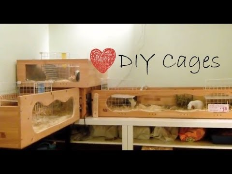 WOODEN DIY GUINEA PIG CAGE
