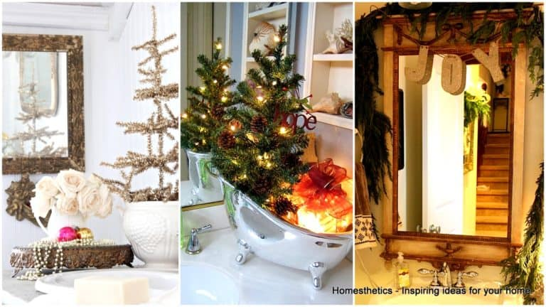 21 Awesomely Unexpected Christmas Bathroom Decorations To Realize