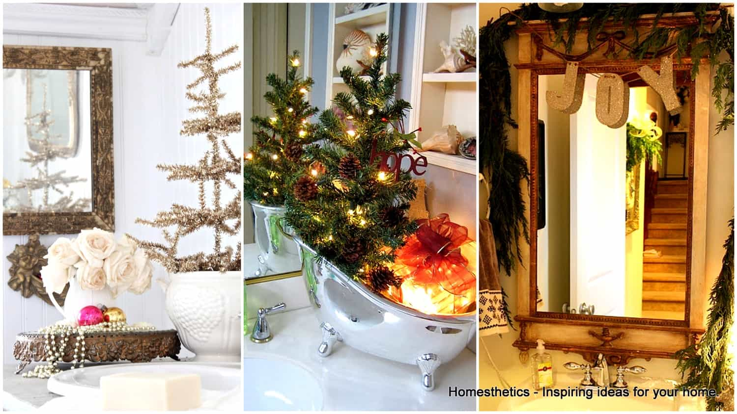 21 awesomely unexpected christmas bathroom decorations to realize | homesthetics - inspiring