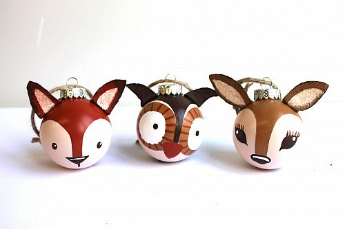 22. Cuteness Overload – Learn How to Make Woodland Ornaments