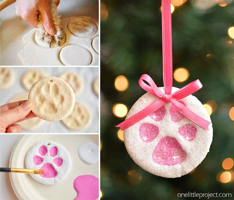 24. Learn How to Make Paw Print Soft Dough Ornaments