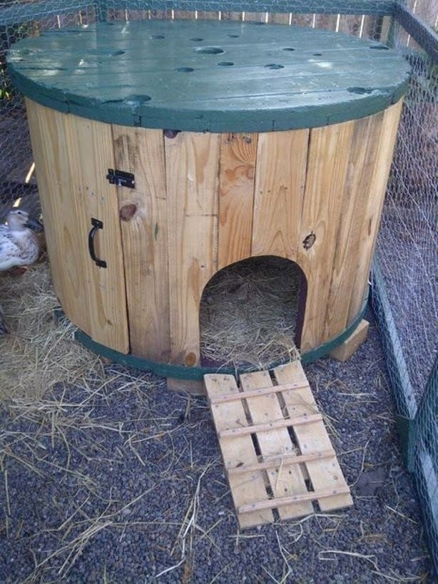 THE CABLE SPOOL DUCK HOUSE