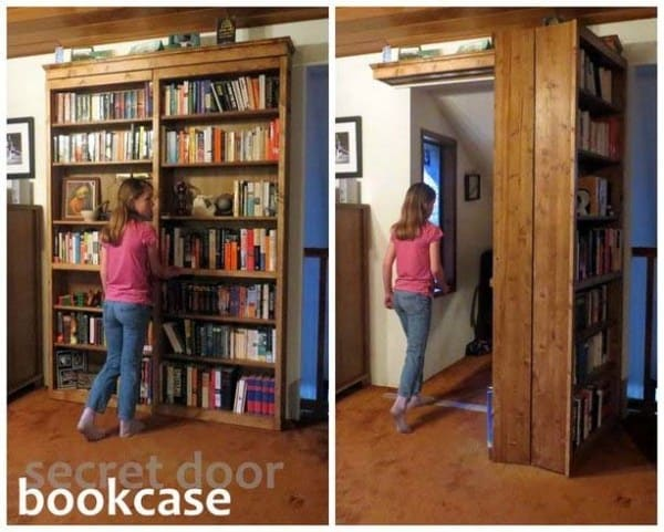 THE SECRET DOOR BOOKCASE
