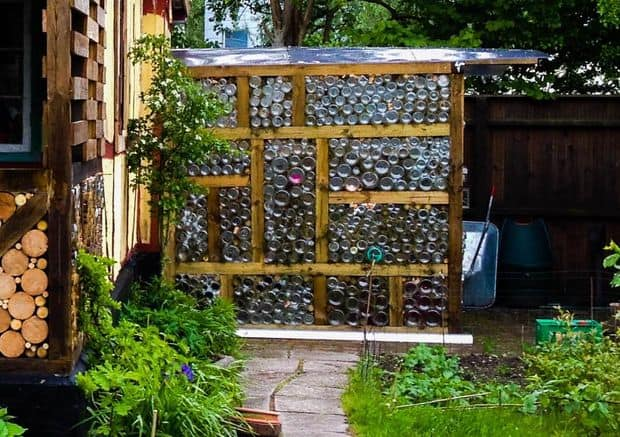 AMAZING GREENHOUSE MADE FROM UPCYCLED GLASS JARS