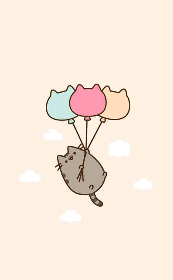 98. ONE CARTOON KITTEN FLOATING AROUND