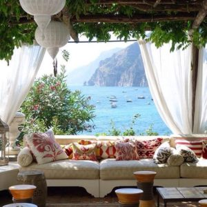 sea views under the pergola VILLA TREVILLE