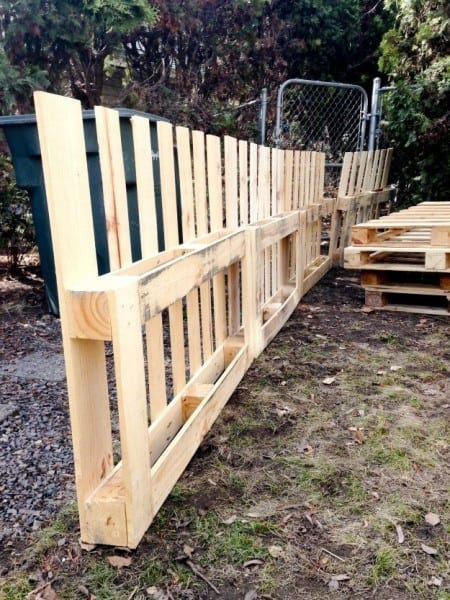 GATED GARDEN FENCE WITH TRELLISES