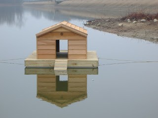 CUSTOM FLOATING DUCK HOUSES