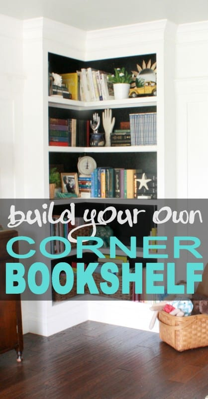 BUILT IN CORNER BOOKSHELVES