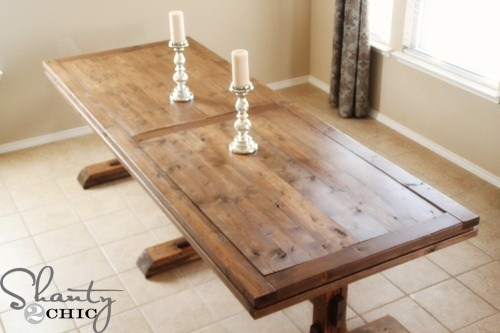 RIPLE PEDESTAL FARMHOUSE TABLE