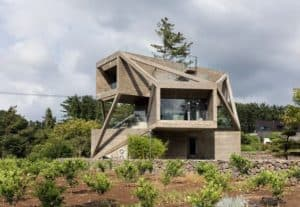 brutalist contemporary home MOON HOON'S SIMPLE HOUSE