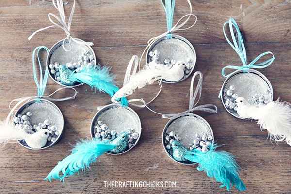 33. Learn How to Make These Stunning Mason Jar Lid Ornaments